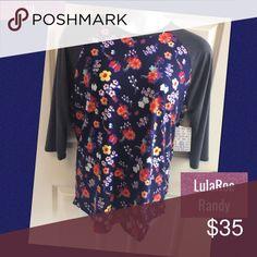XL Lularoe Randy Shirt NWT fits women size 18-20 XL Lularoe Randy Shirt NWT Very cozy! Great fit! This unisex knit shirt resembles a baseball T with its raglan, mid-length sleeves in a contrasting, fabric. XL fits women size 18-20 LuLaRoe Tops Tees - Long Sleeve