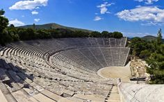 Theatre of Epidaurus - one of the purest masterpieces of Greek architecture  The theatre of Epidaurus was designed by Polykleitos the Younger in the 4th century BC. It seats up to 15,000 people.The theatre is marvelled not only for its symmetry and beauty but mostly for its exceptional acoustics, which permit almost perfect intelligibility of unamplified spoken word from the proscenium or skênê to all 15,000 spectators, regardless of their seating. #theatre #likenoother #greece #epidaurus