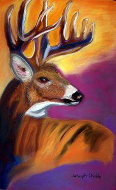 Young Buck  Pastel  Artist  Joseph Chubb