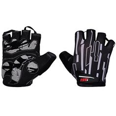 Men's Cycling Gloves - 2Fitness Womens Mens Cycling Gloves Half Finger Bicycle Gloves with Shockabsorbing Gel Pad 1 Pair >>> For more information, visit image link.
