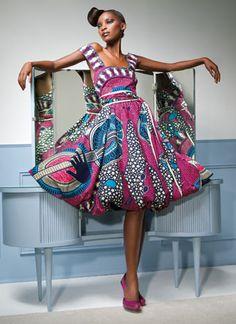 Vlisco Dutch Wax Textile Co. Ankara print dress