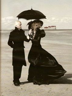 Gothic beachwear. I need someone to hold a parasol over me.