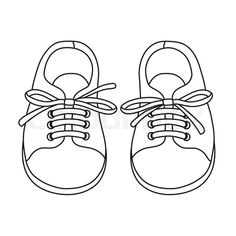 Oct 2018 - Stock vector of 'Hand drawn pair of kids shoes. It can be used for decorating of invitations, greeting cards, decoration for bags, t-shirt, cover. Drawing Clothes, Shoe Drawing, Designer Baby Shoes, Shoes Vector, Shoe Pattern, School Shoes, Baby Scrapbook, Baby Girl Shoes, Doll Shoes