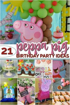 peppa pig birthday party ideas Party like Peppa Pig with these 21 fabulous Peppa Pig birthday party ideas. You can create a festive atmosphere with great decoration ideas, including free Peppa Pig party printables, an idea for a Peppa Pig 3 Year Old Birthday Party, Girl 2nd Birthday, First Birthday Parties, Birthday Party Decorations, Fourth Birthday, Invitacion Peppa Pig, Cumple Peppa Pig, Party Printables, Peppa Pig Printables