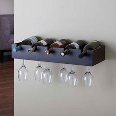 Wall Wine Glass Rack, Wine Glass Storage, Wine Rack Storage, Wine Rack Cabinet, Wood Wine Racks, Wine Wall, Wine Rack Shelf, Wine Racks For Wall, Diy Wine Racks