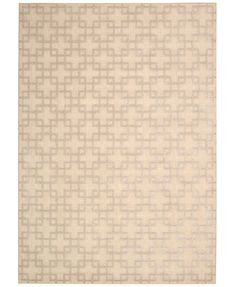 """kathy ireland Home Hollywood Shimmer Times Square Bisque 3'9\"""" x 5'9\"""" Area Rug"""