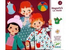 Magnetická skládačka - Djeco - Holčičky - 30 dílů