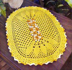 CROCHE COM RECEITA: Tapete em crochê oval ferroso