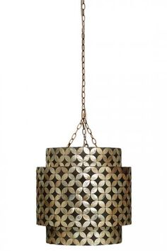 Ella Chandelier - Capiz Shell Chandelier - Ceiling Light Fixtures - Hanging Light Fixtures | HomeDecorators.com
