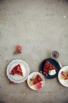 Rhubarb & Marzipan Upside-Down Cake   Hummingbird High
