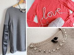 DIY Three Ways: Sweater Updates