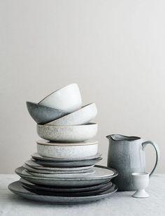 Broste Copenhagen - Medium Grey and Blue Glazed Stoneware Nordic Sea Salad Bowl - Grey/Blue Home Decor Accessories, Decorative Accessories, Cerámica Ideas, Decor Ideas, Broste Copenhagen, Nordic Interior, Nordic Home, Danish Interior Design, Nordic Style