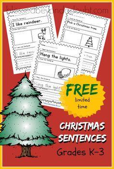 FREE Learn the Sentence Printables- Christmas Edition