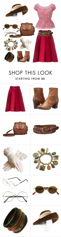 """Vintage Style"" by caeshana on Polyvore featuring CÉLINE, Frye, Uniqlo, Sweet Romance, Sunday Somewhere, Moschino and vintage"