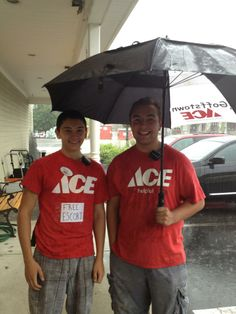 Jacob and James, these gentleman will take you to and from your car with an umbrella!!