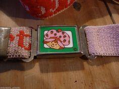 Strawberry Shortcake Belt Vintage 1980 Magnetic Buckle Adjustable Pink Strap