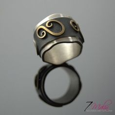 Doodles | SILVER And Gold Plated Ring Band