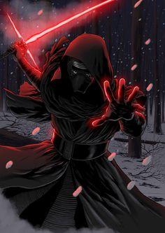 Star Wars - The Force Awakens - Kylo Ren by Hitokirisan. #StarWars #Art #gosstudio .★ We recommend Gift Shop: http://gosstudio.com