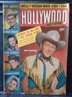 Vintage WESTERN HOLLYWOOD PICTORIAL Magazine March 1950 Roy Rogers & Gene Autry  | eBay