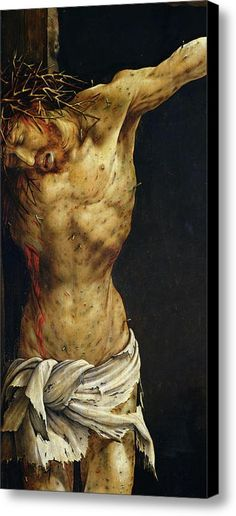 Christ On The Cross Canvas Print / Canvas Art By Matthias Grunewald