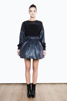 Spódnica mini z nabłyszczanego materiału 1415/43 Leather Skirt, Skirts, Fashion, Tunic, Moda, Leather Skirts, Fashion Styles, Skirt