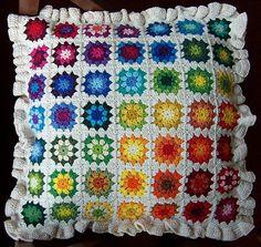 Maaik's Pillow--Based on Attic24's Summer Garden Pattern. by gloriaU