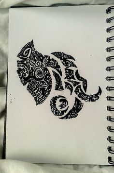 Elephant...doodle art...abstract art and illustration