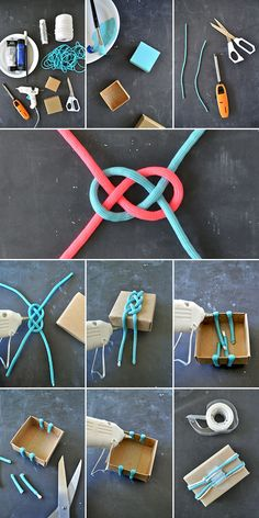 "Craft these simple nautical boxes to hold favors for your next party or keep a few stashed away for those times when you need to dress up a small gift in a hurry. With the holidays coming up, I always like to have a few small gifts ready for those ""I can't believe I forgot!"" moments and paired with a small gift these boxes are just right."