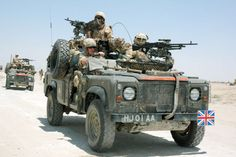 British Army Land Rover Wolf (with windows and canvas top cover folded down)