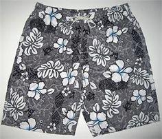 Elastic Waist LONG Length (approx 11 inseam) Board Shorts for Women