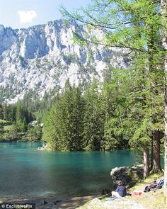 Austrian Lake Is Also a Popular Hiking Spot