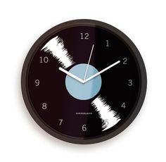 Kikkerland Design Inc » Wall Clock + Vinyl  $12.00 Rock around the clock! Glass front 8 inch clock.