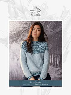 8272278c58b08 Yvette Jumper Knitting Pattern in Willow and Lark Woodland - Downloadable  PDF Jumper Knitting Pattern