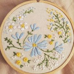Hand Embroidery Kit, Embroidery Hoop Art, Wall Art - Blossoming Garden - Diy…