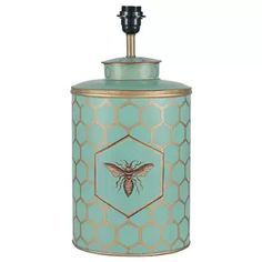 Hedon Honeycomb and Bee Motif Table Lamp Base Canora Grey Base Colour: Turquoise Touch Table Lamps, Metal Table Lamps, Table Lamp Base, Ceramic Table Lamps, Table Lamp Sets, Lamp Bases, Painting Lamps, Honeycomb Pattern, Bee Design