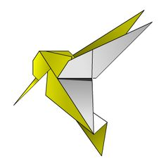 Humming Bird - Origami Diagram