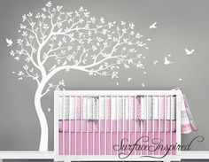 Good Nursery Wall Decals White Tree Wall Decal Large Tree Wall Decal Wall Mural  Stickers Nursery Tree And Birds Wall Art Nature Wall Decals Decor