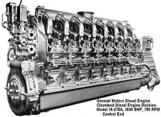 A vintage EMD diesel engine with a Woodward governor control Automobile, Steam Turbine, Boat Engine, Combustion Engine, Heavy Machinery, Diesel Locomotive, Train, Mechanical Engineering, Wooden Boats