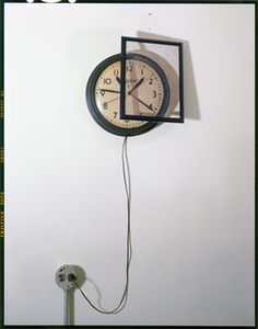 John Chervinsky, 'Clock, Outlet and Painting on Wall,' 2011, Wall Space Gallery