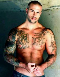 Sexy tattooed man