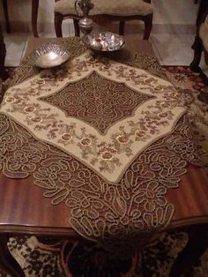 Point Lace, Table Runners, Needlepoint, Cross Stitch Patterns, Sweet Home, Embroidery, Crochet, Crafts, Angles