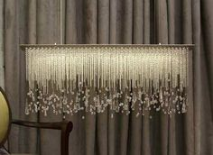 contemporary crystal chandelier SPRING THAW Water Pressure Lighting