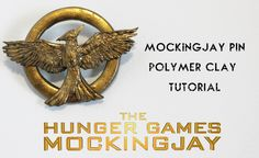 a how to video on making the new mockingjay pin from Hunger Games. I used premo brand polymer clay to make this, do not use sculpey brand because the baked c...