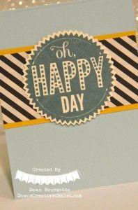 Starburst Sayings Stamp Set, Hello Honey, Soft Sky. Dawn Bourgette - Dawn's Creative Chalet http://www.dawnscreativechalet.stampinup.net #starburstsayings #stampinup #papercrafting #happy #cardmaking #handstamped #dsp #diy #crafts #scrapbooking #dawnscreativechalet