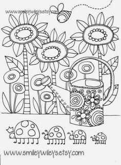 Print adult simple flowers coloring pages | Coloring pages ...