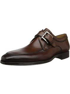 92ceb0c179b Magnanni Men s Mauricio Loafer Updated monk-strap loafer with brushed-metal  buckle and stitched apron toe Lightly burnished toe