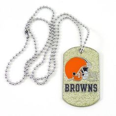 NFL Cleveland Browns Glitter Dog Tag * Be sure to check out this awesome product.(This is an Amazon affiliate link and I receive a commission for the sales)