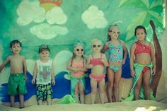 Painted canvas photo backdrop for mermaid, under the sea, or beach themed party