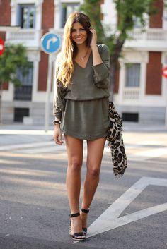 trendy_taste-street_style-look-outfit-SS13-khaki_dress-vestido_caqui-vince_camuto-studed_sandals-sandalias-tachuelas-uniqinu-11 | Flickr - Photo Sharing!