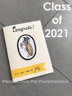 Graduation Card :: Congratulations Class of 2021 :: Cicada Brood X Year Personalized Cards, Graduation Cards, Congratulations, Personalised Cards